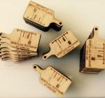 Leseni obeski za ključe