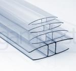 Polikarbonatni LPH profil za plošče debeline 4, 6, 8, 10 in 16 mm - za spajanje na vzdolžnih ali prečnih podporah