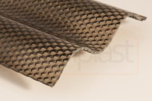 Rjava bronze valovita plošča